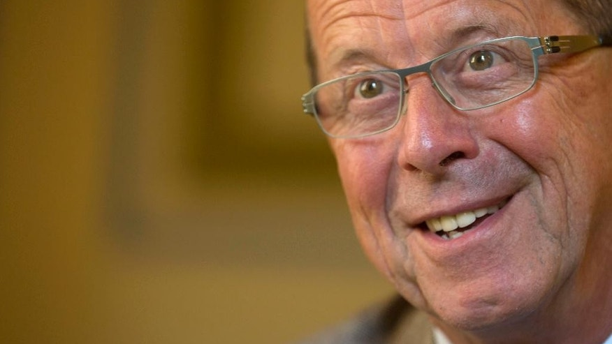 U.N. envoy for Libya Martin Kobler speaks during an interview with the Associated Press in Cairo, Egypt, Wednesday, July 13, 2016. Martin Kobler confirmed reports that the formation of military councils representing Libya's western, eastern and southern regions is being discussed.(AP Photo/Amr Nabil)