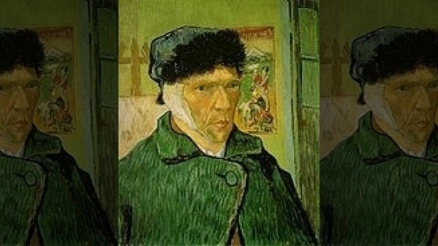 """Self-Portrait with Bandaged Ear,"" by Vincent van Gogh"