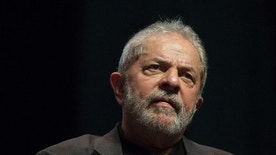 FILE - In this June 6, 2016, file photo, Brazil's Former President Luiz Inacio Lula da Silva speaks at a rally in defense of public companies and against Brazil's interim President Michel Temer in Rio de Janeiro, Brazil. Lawyers for the ex-President have filed a petition on Thursday, July 28, 2016, with the U.N. denouncing what they call a lack of impartiality and abuse of power by the judge investigating the corruption scandal at state-owned oil company Petrobras. (AP Photo/Felipe Dana, File)