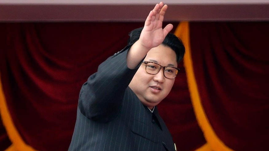 FILE - In this May 10, 2016 file photo, North Korean leader Kim Jong Un waves at parade participants at the Kim Il Sung Square in Pyongyang, North Korea.  South Korea's military says North Korea has fired a ballistic missile on Wednesday, Aug. 3, 2016 into the sea. (AP Photo/Wong Maye-E, File)