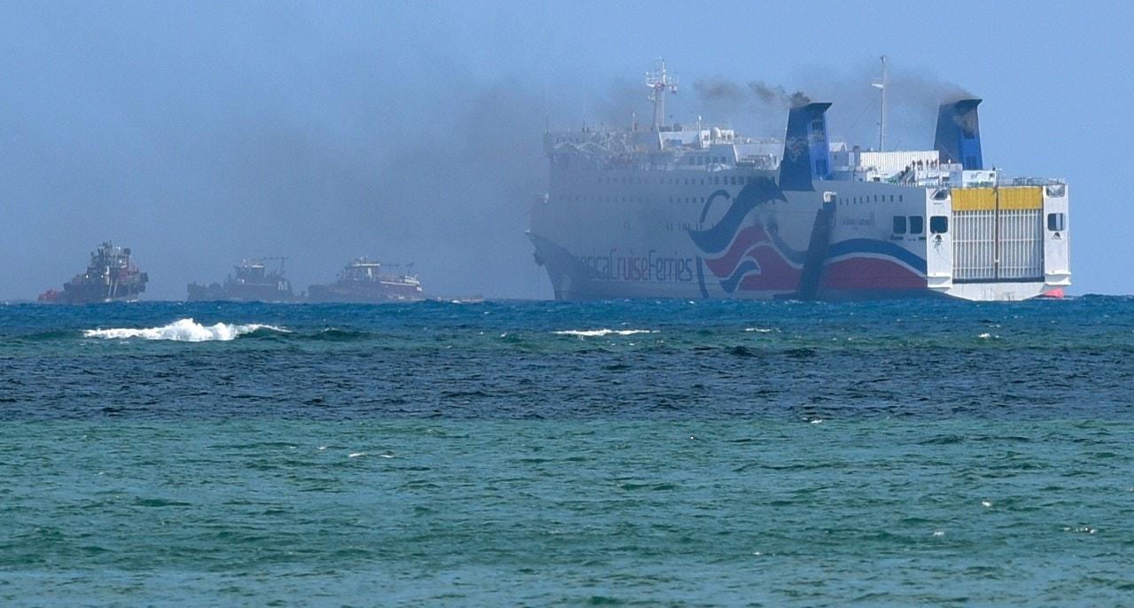 More than 500 evacuated in ferry fire near Puerto Rico