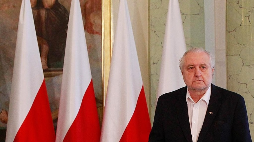 In this April 28, 2016 photo, head of Poland's Constitutional Tribunal Andrzej Rzeplinski attends a meeting at the presidential palace in Warsaw, Poland. Polish prosecutors have opened an investigation into Rzeplinski to determine if he abused his power in not allowing judges appointed illegally by the ruling party to take part in rulings, what is the latest development in an ongoing conflict between the Polish government and the constitutional court. (AP Photo/Czarek Sokolowski)