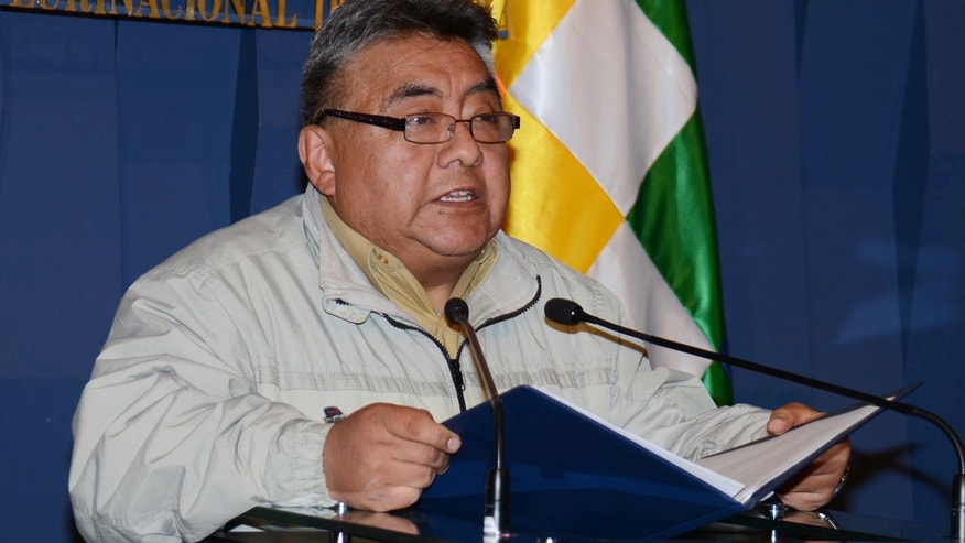 Bolivia's Deputy Minister of Internal Affairs Rodolfo Illanes in a Nov. 26, 2014 photo.