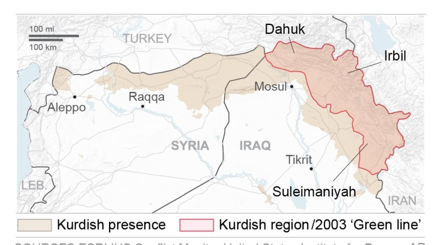 Kurdish forces are seizing additional territory.