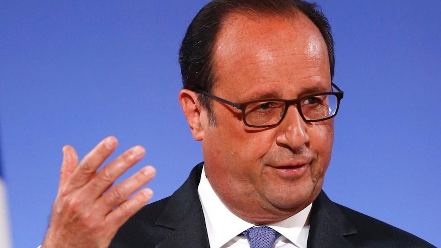French President Francois Hollande on Tuesday.