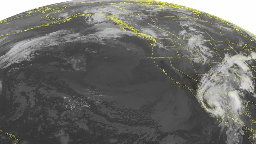 This NOAA satellite image taken Wednesday, Sept. 07, 2016 at 01:00 AM EDT shows Hurricane Newton moving northward up the Baja Mexico coast. Widespread showers with a few embedded thunderstorms can be seen across parts of Arizona and New Mexico due to the outer rain bands. Newton is expected to weaken to a Tropical Storm as it makes landfall over far northwest Mexico. An area of showers can be seen across the northern Intermountain West, while weakening showers can be seen across the Pacific Northwest. The West Coast remains dry and clear, while mostly cloudy skies can be seen across the Rockies. (NOAA/Weather Underground via AP)