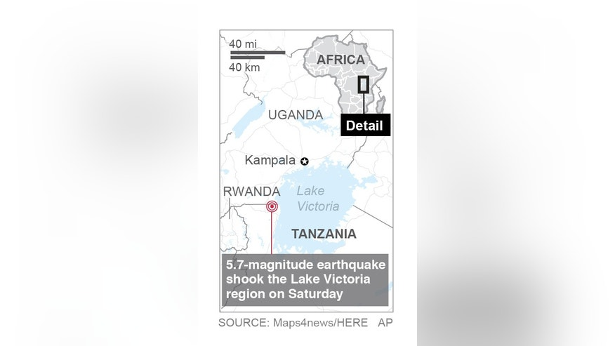 The quake was felt as far away as western Kenya and parts of Uganda
