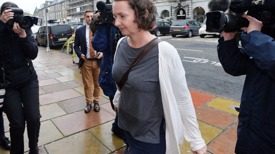 Pauline Cafferkey, the nurse who survived Ebola, arrives to face a misconduct panel on Wednesday in Edinburgh, Scotland.