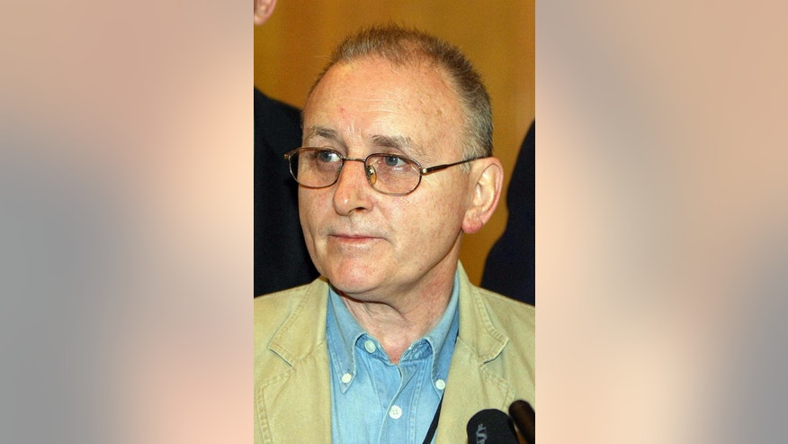 File photo dated 09/12/2005 of Denis Donaldson,as Sinn Fein president Gerry Adams denied sanctioning the murder of the British spy in the IRA.  Wednesday Sept, 21, 2016. The allegation about the 2006 killing of Denis Donaldson was made by a man who claimed he was also a paid state agent in the IRA. (Paul Faith/PA via AP)