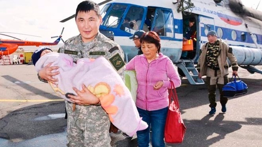 Tserin Dopchut, 3, was found three days after wandering away from home in Siberia. (Tuva-Online News Agency)