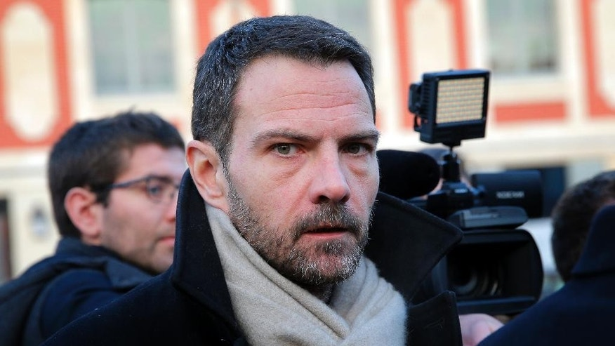 FILE - In this file photo dated Wednesday, Jan. 20, 2016, Jerome Kerviel, arrives at the Versailles appeal court, outside Paris, fighting the award of damages. Kerviel will learn Friday Sept. 23, 2016, whether he'll have to pay a staggering 4.9 billion euros ($5.5 billion) to the Societe Generale bank that employed him when he made huge losses through reckless operations. (AP Photo/Christophe Ena, FILE)