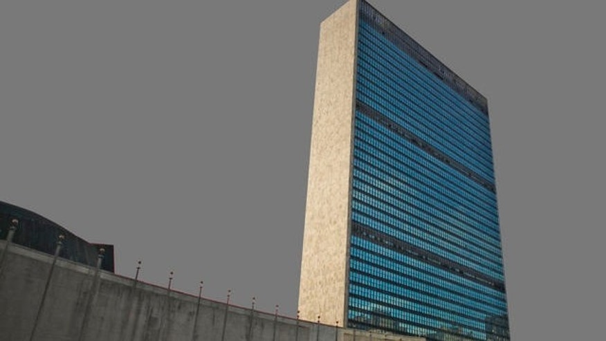 File: The United Nations headquarters in New York.