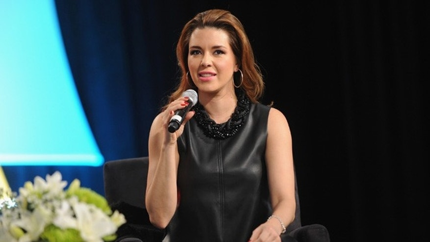 Venezuelan actress Alicia Machado speaks on stage at Festival PEOPLE En Espanol 2015 presented by Verizon at Jacob Javitz Center on October 17, 2015 in New York City.  (Photo by Brad Barket/Getty Images for PEOPLE En Espanol)