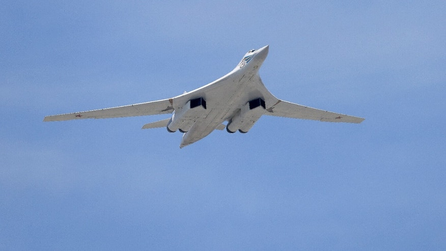 A Tu-160 Blackjack strategic bomber.