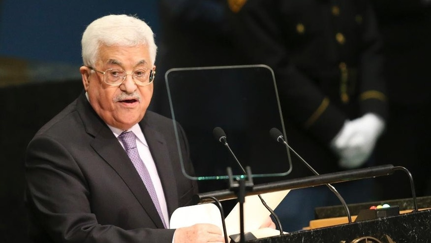 Palestinian Authority President Mahmoud Abbas speaks during the 71st session of the United Nations General Assembly in September 2016.