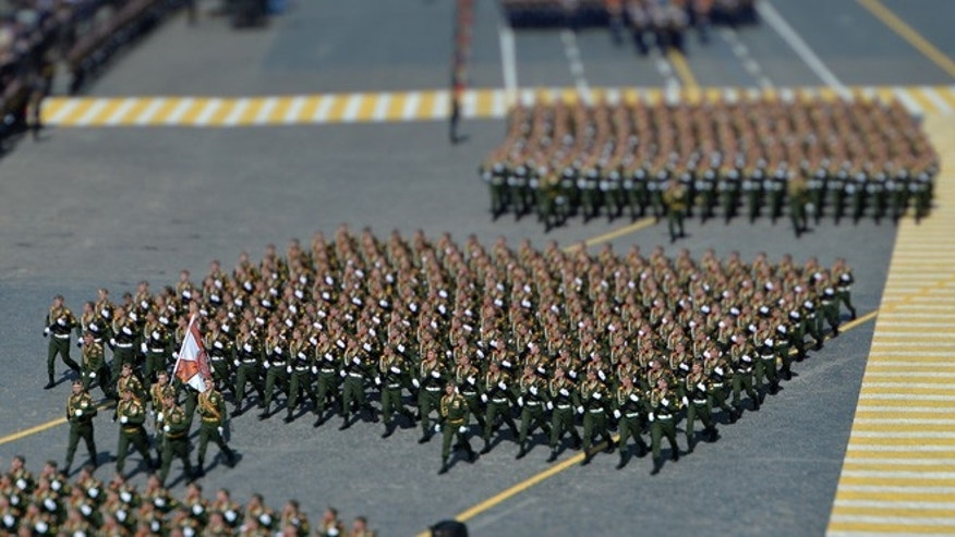 Military parade in Moscow, Russia, on May 9, 2015.