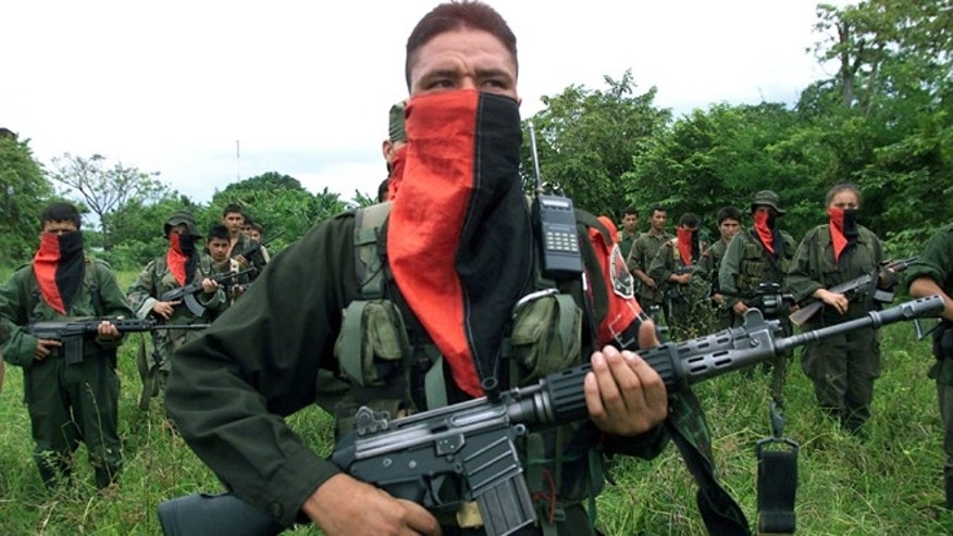 National Liberation Army (ELN) soldiers in the Arauca province of Colombia.