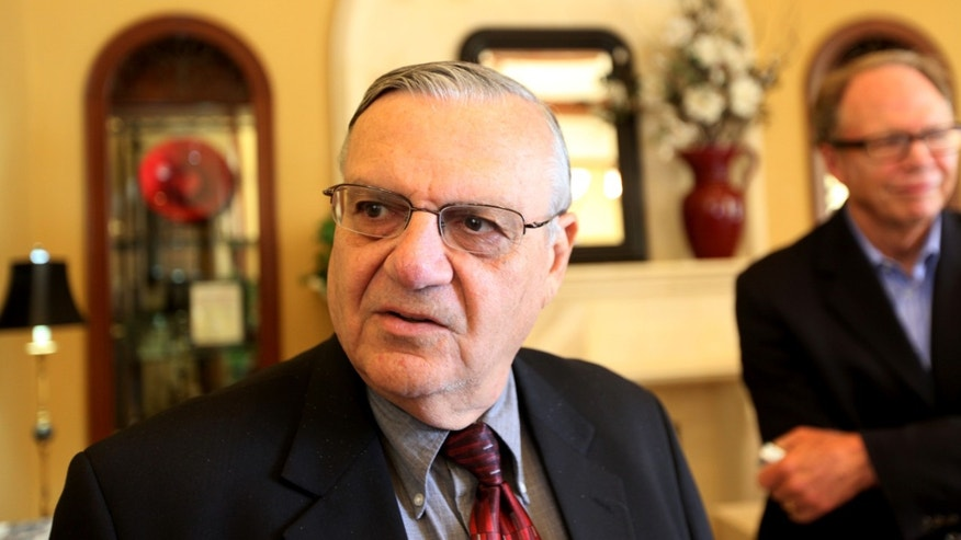 Sheriff Joe Arpaio in a 2010 file photo in Rancho Bernardo, California.