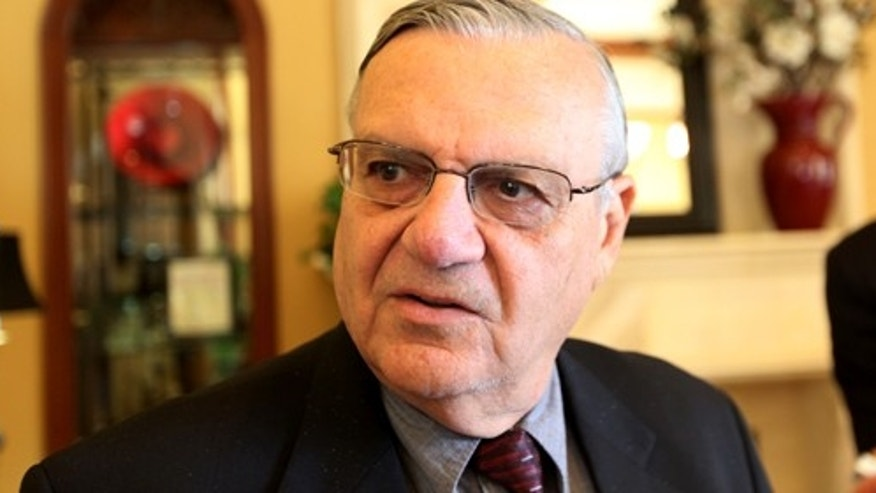RANCHO BERNARDO, CA - AUGUST 10:  Sheriff Joe Arpaio speaks during a visit to the Rancho Bernardo Inn on August 10, 2010 in Rancho Bernardo, California.  Arpaio, who is Sheriff of Maricopa County in Arizona, gained national attention for using deputies to conduct raids to apprehend illegal immigrants and building large outdoor prison tents to house inmates.  (Photo by Sandy Huffaker/Getty Images) *** Local Caption *** Joe Arpaio