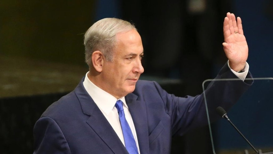 Israeli Prime Minister Benjamin Netanyahu at the United Nations General Assembly in September.