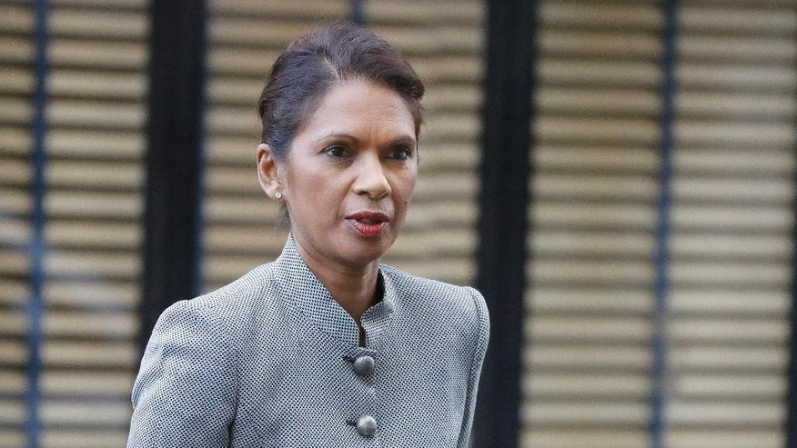 Gina Miller, a founder of investment management group SCM Private arrives at the High Court on the second day of the lawsuit for the Brexit legal challenge, in London, Monday, Oct. 17, 2016. A judicial review action has been brought by British citizens who say the Government cannot trigger Article 50 of the Treaty of Lisbon - enabling the UK to leave the EU - without the prior authorization of Parliament. (AP Photo/Frank Augstein)