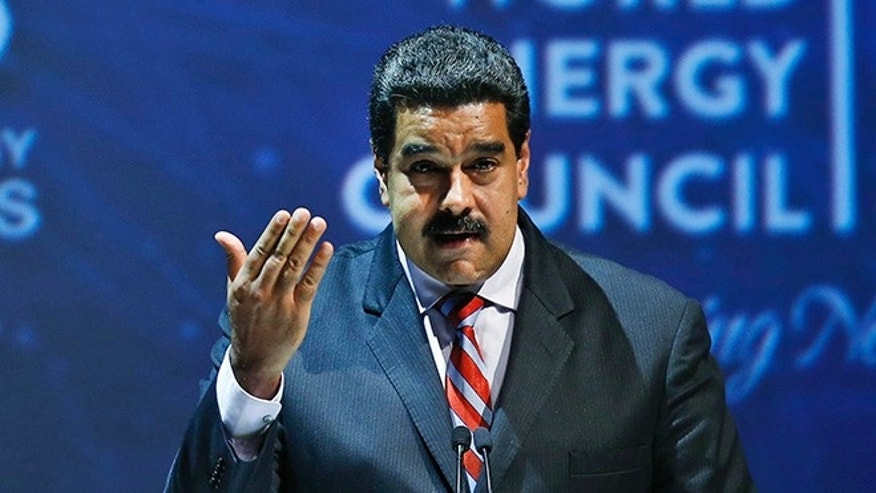 Venezuela's President Nicolas Maduro at the World Energy Congress, in Istanbul, Oct. 10, 2016.