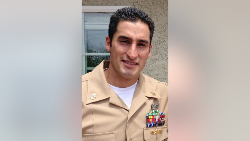 This undated photo provided by the U.S. Navy shows Chief Petty Officer Jason C. Finan. Finan, whose hometown was listed by the Pentagon as Anaheim, Calif., was assigned to Explosive Ordnance Disposal Mobile Unit Three. He was killed in Iraq Thursday, Oct. 20, 2016. He died of wounds sustained in a roadside bomb attack north of Mosul. Finan was part of a U.S. team advising and assisting Iraqi Kurd fighters known as peshmerga. (U.S. Navy via AP)