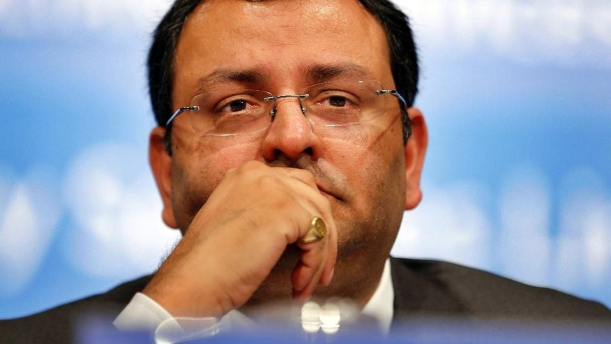 FILE - In this June 27, 2014 file photo, India's Tata Group Chairman Cyrus P. Mistry attends the Annual General Meeting (AGM) of Tata Consultancy Services (TCS) shareholders, in Mumbai, India. The board of directors of Tata Sons has removed Mistry as chairman of the giant Indian conglomerate. The board on Monday, Oct. 25, 2016, named former group chief Ratan Tata as interim chairman and set up a panel to choose a new chairman. (AP Photo/Rajanish Kakade, File)