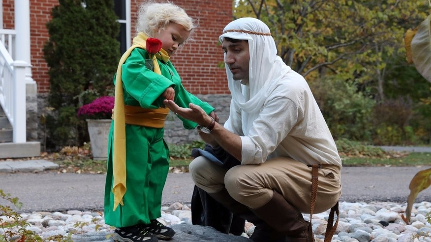 Prime Minister Justin Trudeau tweeted out this Halloween photo.
