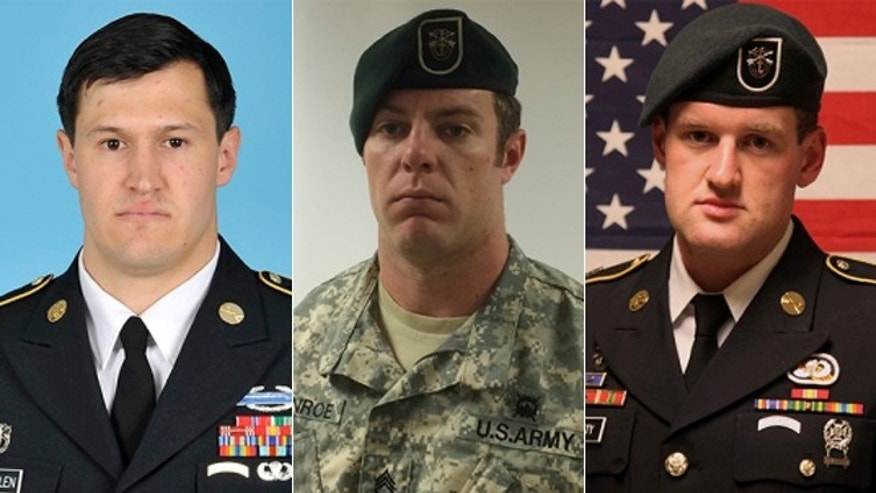 From left: Staff Sgt. Matthew C. Lewellen, Staff Sgt. Kevin J. McEnroe, Staff Sgt. James F. Moriarty.