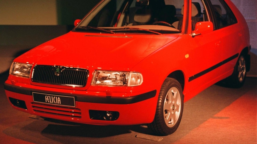 A Skoda Felicia on display in 1998.