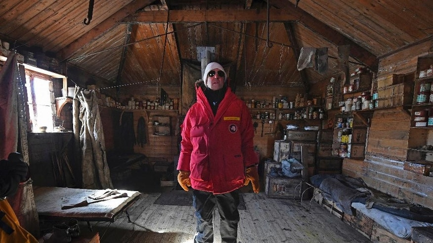 U.S. Secretary of State John Kerry stands inside the historic Shackleton hut near McMurdo Station, Antarctica, Friday, Nov. 11, 2016. Secretary Kerry is traveling to Antarctica, New Zealand, Oman, United Arab Emirates, Morocco, and attending APEC in Peru on his 9 day trip. (Mark Ralston/Pool Photo via AP)