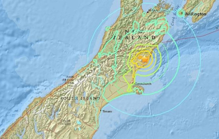 NZ quake map