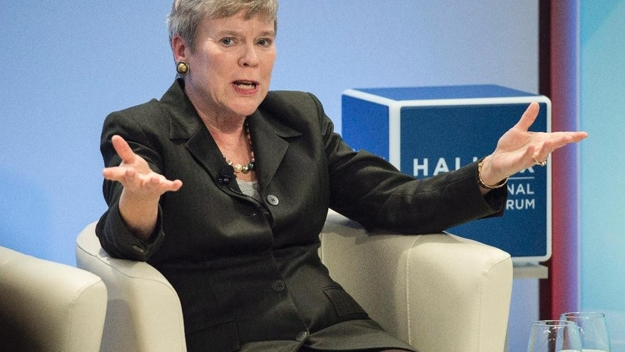 NATO's Deputy Secretary General Rose Gottemoeller speaks at the Halifax International Security Forum in Halifax on Saturday, Nov. 19, 2016. (Darren Calabrese/The Canadian Press via AP)