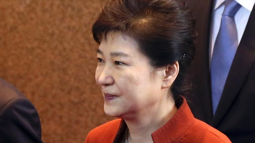 South Korean President Park Geun-hye on Nov. 8.