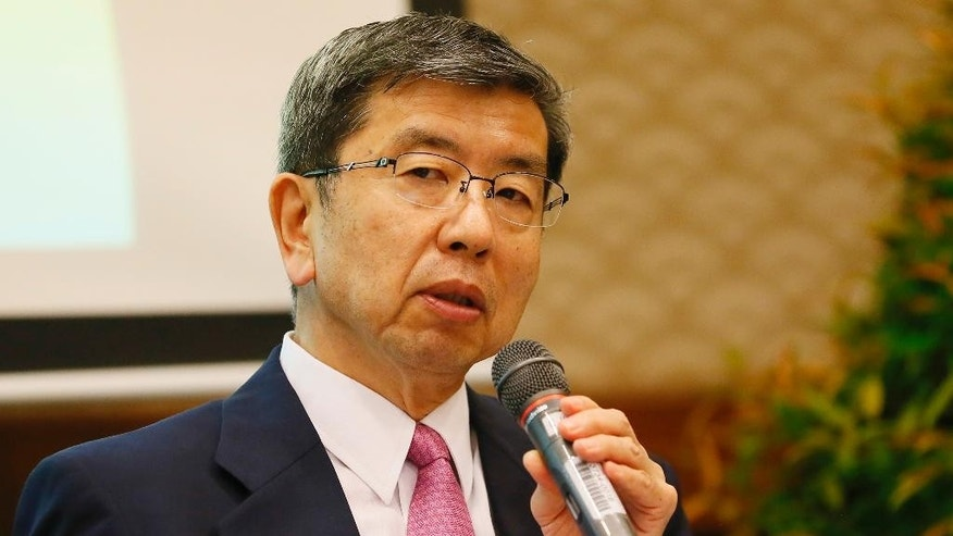 Asia Development Bank President Takehiko Nakao answers questions during a forum with foreign media at its headquarters in  Mandaluyong city, east of Manila, Philippines, Thursday, Nov. 24, 2016. During the forum, Nakao said the United States' continued engagement in Asia following Donald Trump's election win will not only be good for the region but also for America's interests. (AP Photo/Bullit Marquez)