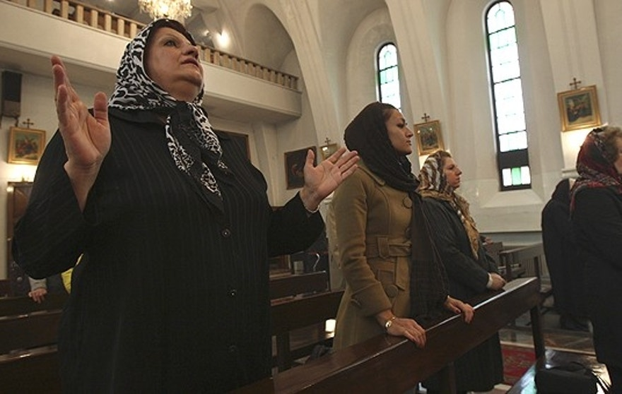 Dec. 25: Christians attend the Christmas mass at the St. Grigor Armenian Catholic church in Tehran, Iran.