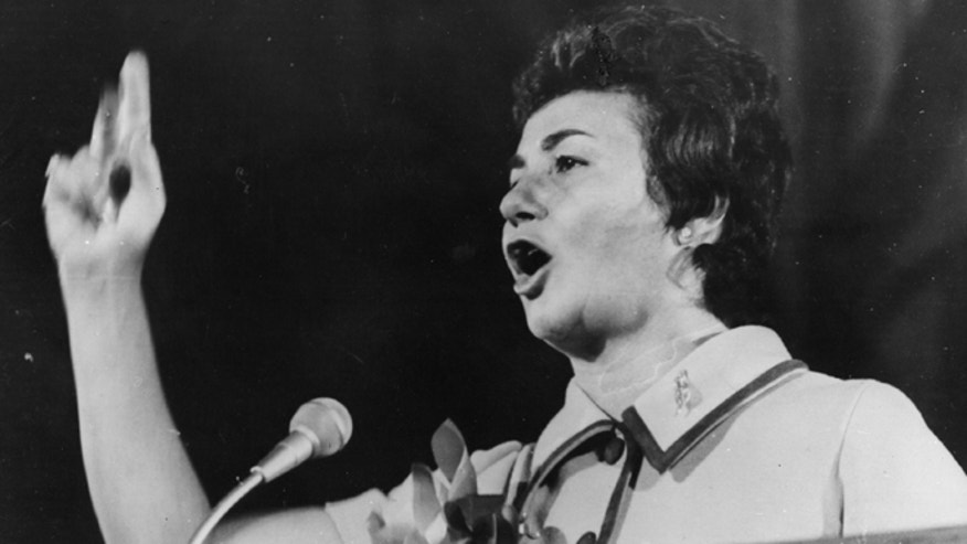 25th September 1970:  Juanita Castro denounces her brother Fidel Castro as a Communist puppet, who has enslaved the entire population of Cuba in his quest for power.  (Photo by Keystone/Getty Images)
