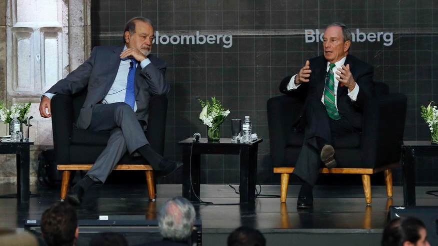 Carlos Slim and former NYC Mayor Michael Bloomberg discuss Mexico's relationship to the U.S., on Thursday, Dec. 1, 2016.