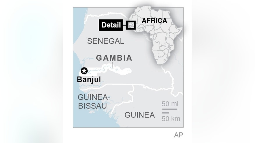 On the west coast of Africa, Gambia is surrounded on three sides by Senegal.