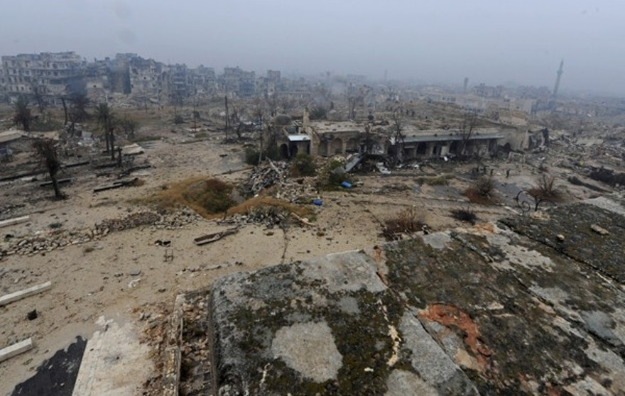 "A general view shows damage in the Old City of Aleppo, Syria December 13, 2016. REUTERS/Omar Sanadiki SEARCH ""ALEPPO HERITAGE"" FOR THIS STORY. SEARCH ""WIDER IMAGE"" FOR ALL STORIES. - RTX2VYQ4"