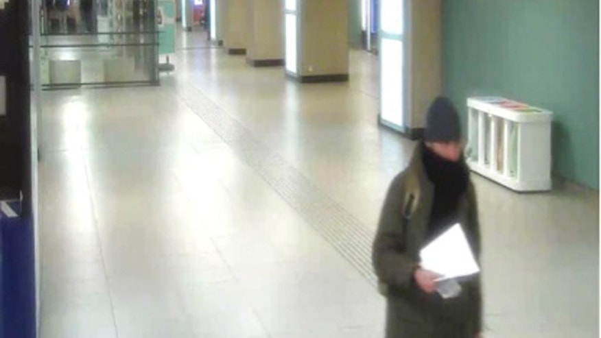 This Dec. 21, 2016 image taken from CCTV provided by Belgian Federal Public Prosecutor's Office on Friday Jan. 6, 2017, shows Anis Amri in Brussels North railway station. Investigators say the 24-year-old Tunisian drove a truck into the market on Dec. 19, killing 12 people. Belgian authorities said that he spent two hours at the Brussels North station coming from Amsterdam and then traveled to Italy via France, where he was killed Dec. 23 in a shootout with Italian police in a Milan suburb. (CCTV/Belgian Federal Public Prosecutor's Office via AP)