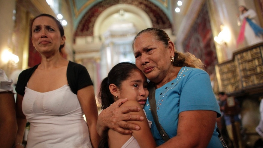Relatives of missing persons in the Mexican state of Coahuila August 30, 2013.