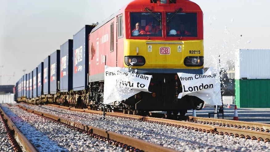 Freight train arrives in Kent from China