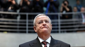 Martin Winterkorn, former CEO of the German car manufacturer 'Volkswagen', arrives for a questioning at an investigation committee of the German federal parliament in Berlin, Germany, Thursday, Jan. 19, 2017. (AP Photo/Michael Sohn)