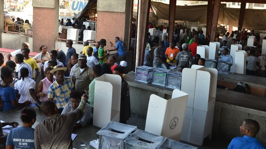 Haiti holds final round of election cycle started in 2015 for Canape vert haiti