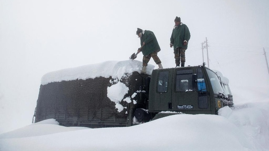 Image result for five soldiers died after avalanche