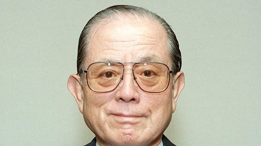 "This June 3, 1997 photo shows Masaya Nakamura, known as the ""Father of Pac-Man,"" in Tokyo. Nakamura who founded the Japanese video game company behind the hit creature-gobbling game, and pioneered arcade games and amusement parks, has died on Jan. 22, 2017, according to the company Bandai Namco. He was 91. (Kyodo News via AP)"