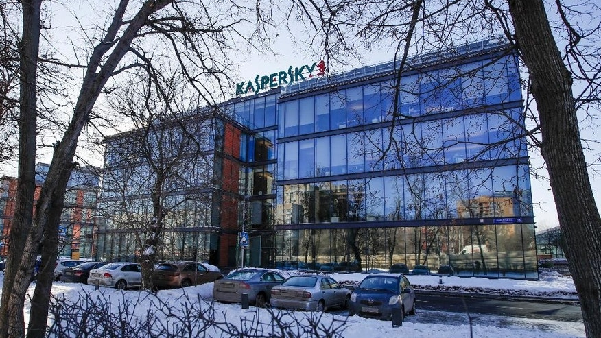 The headquarters of Kaspersky Lab in Moscow, Russia, on Monday, Jan. 30, 2017. Moscow has been awash with rumours of a hacking-linked espionage plot at the highest level since cyber-security firm Kaspersky said one of its executives with ties to the Russian intelligence services had been arrested on treason charges. (AP Photo/Pavel Golovkin)