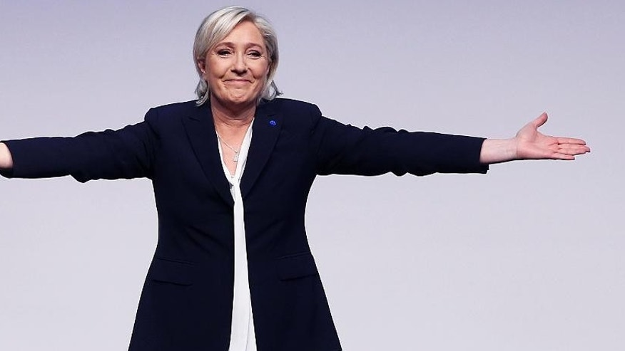 Far-right leader and candidate for France's presidential elections Marine Le Pen seen in January 2017.